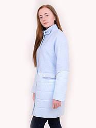 """Пальто """"Каролина"""" голубое"""
