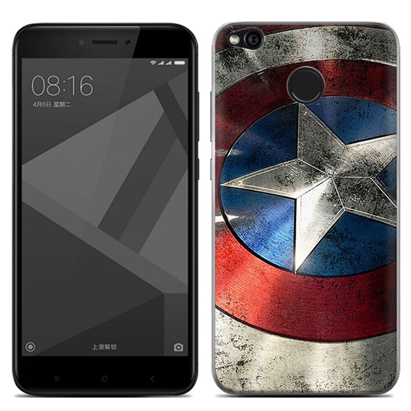 Чехол-накладка TPU Image Captain America для Xiaomi Redmi 4X