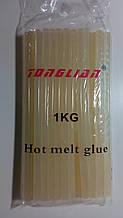 Стержни для клеевого пистолета прозрачные 1 кг, 11х265 мм (Термостержни силиконовые)