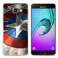 Чехол-накладка TPU Image Captain America для Samsung Galaxy A7 2017/A720