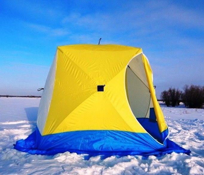 Зимняя палатка для рыбалки Стэк Куб 2 местная 185х185 см