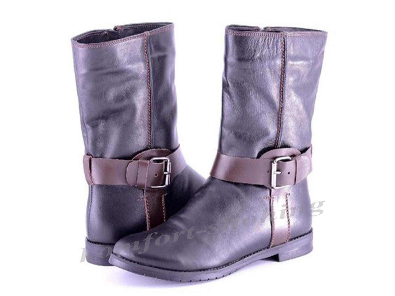 Ботинки женские кожаные  V 822
