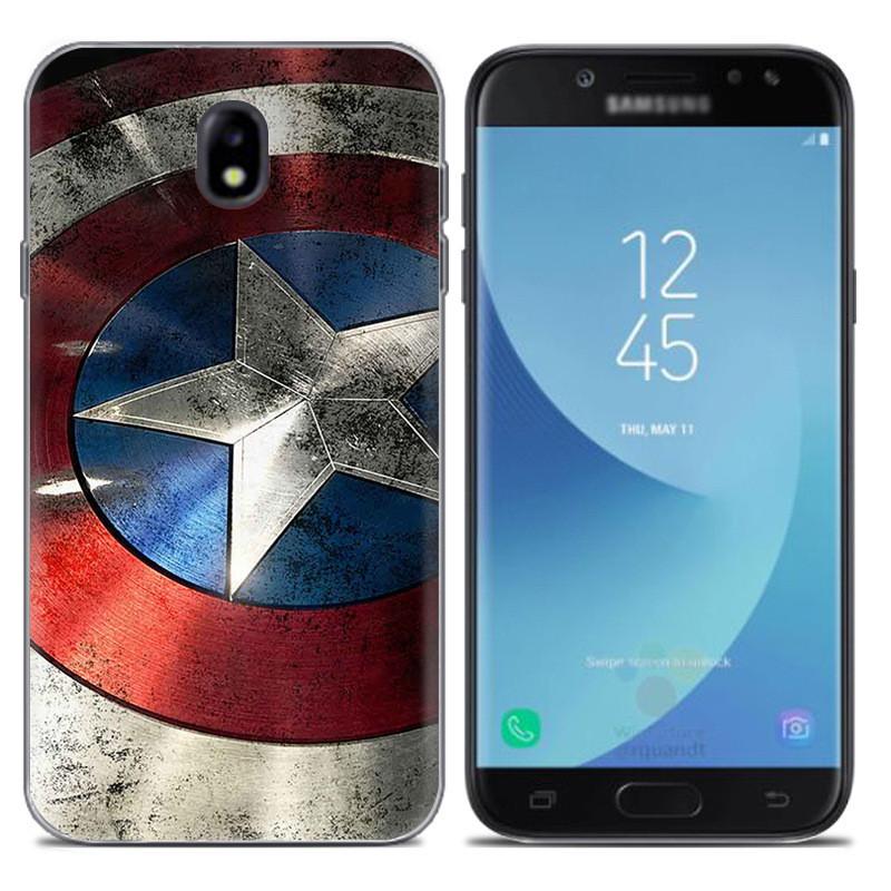 Чехол-накладка TPU Image Captain America для Samsung Galaxy J7 2017/J730