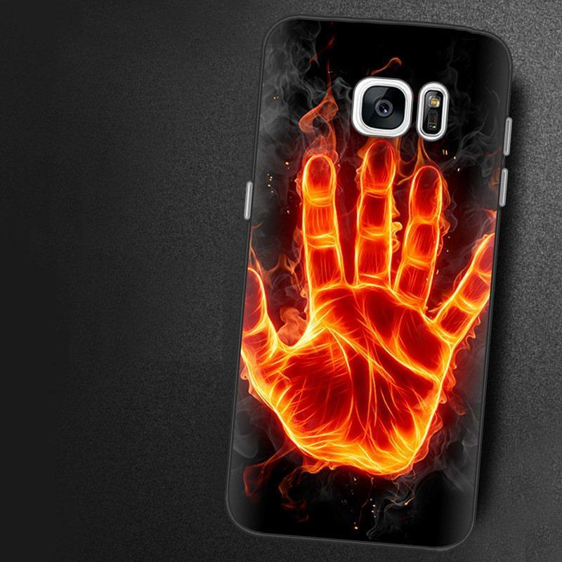 Чехол-накладка TPU Image Fire hand для Samsung Galaxy S7/G930
