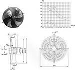 Вентилятор осевой YWF-4D-500-S Weiguang, фото 2