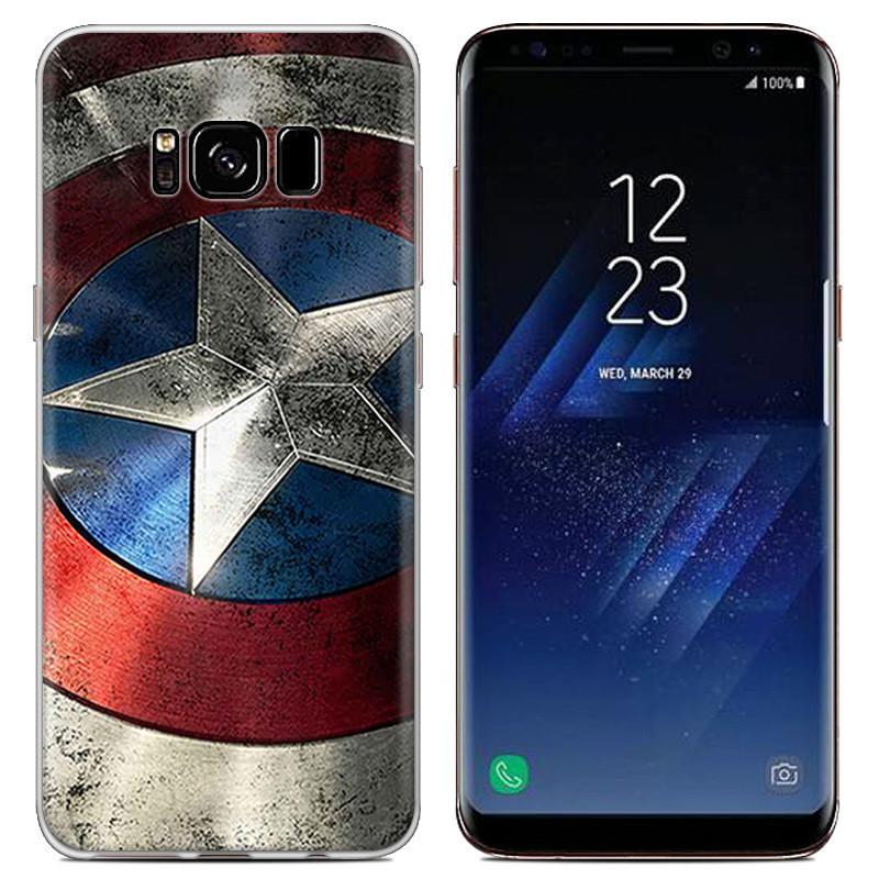 Чехол-накладка TPU Image Captain America для Samsung Galaxy S8/G950