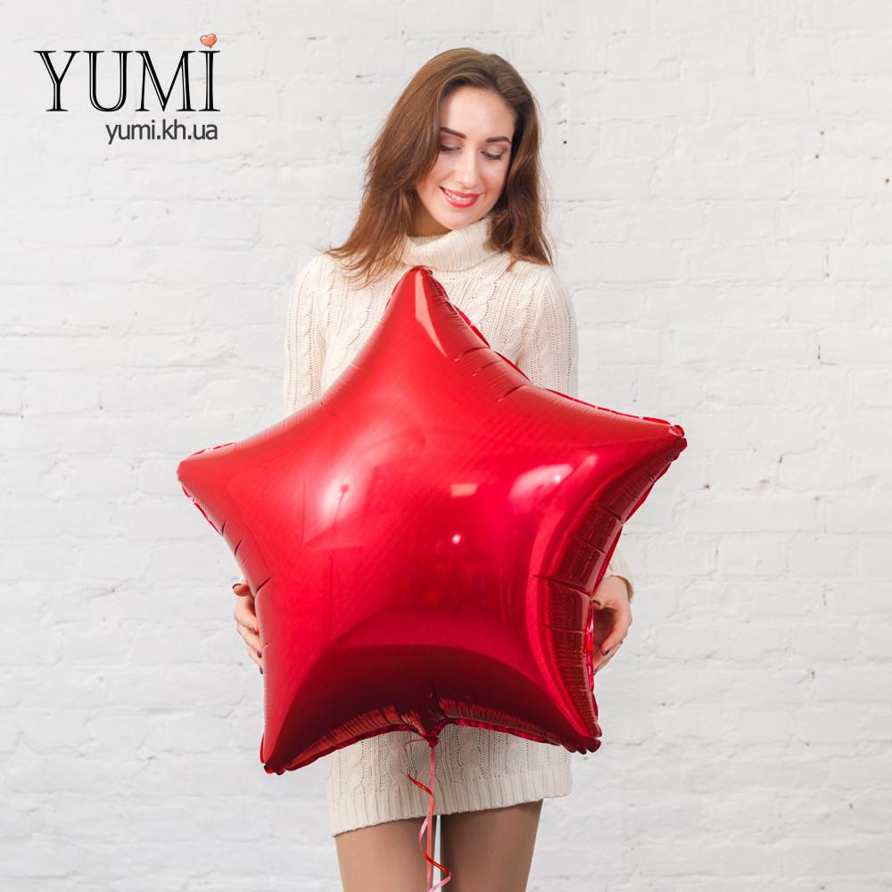 Воздушный шарик с гелием в форме звезды
