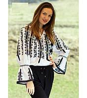 Блуза женская с вышивкой БЖ 21-16/02,вышиванка, вышитая блузка, вишита блузка, вишиванка