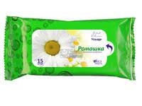 Voyage влажные салфетки для рук Ромашка 15 шт (4820091141620)