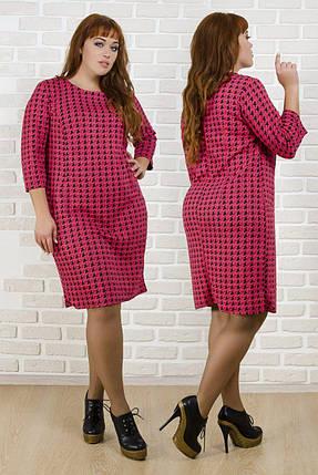 """Комфортное женское платье ткань """"Стеганый трикотаж""""  50 размер батал, фото 2"""