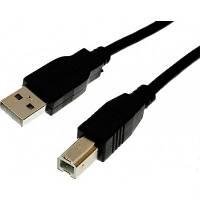 Кабель USB 2.0 - 3.0м AM/BM Cablexpert феррит фильтр, черный CCF-USB2-AMBM-10