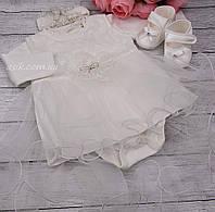 Крестильный набор для девочки из 3 предметов
