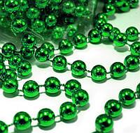 Гирлянда зеленых бусинок 6 мм