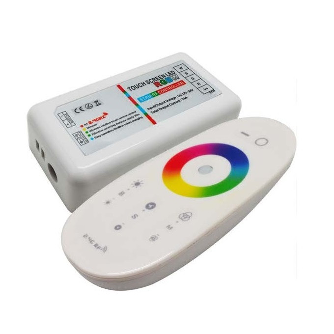 Контроллер 12V RGB-W для светодиодной ленты 288 Вт 24А-2.4G-Touch-радио