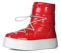 Дутики женские зимние сапоги красные Red winter boots