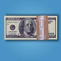 Сувенирные деньги (100 долларов старые) 80 шт