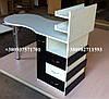 Складной маникюрный стол с ящиком карго. Модель V61 белый / черный