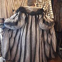 Шикарная енотовая шуба в пол!! Шуба из натурального меха енота.