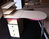 Складной маникюрный столик, цвет: крем с темной кромкой. Модель  V67, фото 1