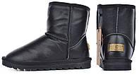 Угги кожаные UGG Australia детские зимние сапоги черные