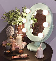 Подарок гримерное зеркало мятное Star