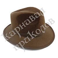 Шляпа Мужская фетровая (коричневая)