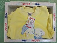 """Трикотажный домашний костюм для новорожденных Ladora """"Мишки"""" от 6 до 9 месяцев"""
