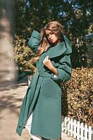 Пальто кашемир с капюшоном теплое Пальто кашемировое на синтепоне с карманами