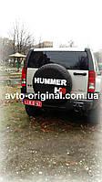 Чехол для запасного колеса на Hummer H3 (Хаммер Х3) с логотипом. Изготовление 1 день.