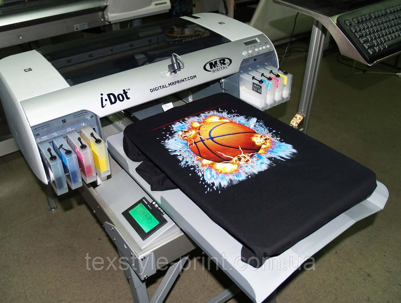 Прямая печать на тканях  темного цвета