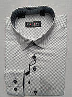 Рубашка на 7-12 лет с длинным рукавом коттоновая белая