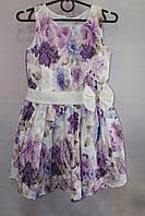 Детские платья 4-8 лет Цветы с бантом