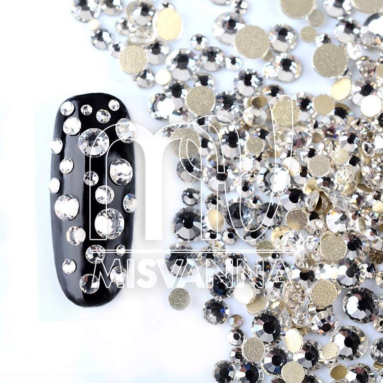 Камни микс размеров стекло 420 шт. белые