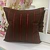 Декоративная подушка 45х45: полоска бордо, наволочка на молнии, наполнитель холлофайбер