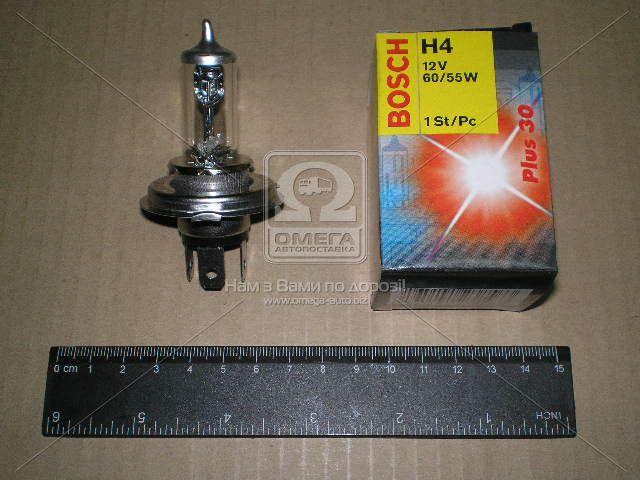 Лампа фарная АКГ 12-60+55 ВАЗ галоген. H4 ближний, дальний свет (Производство Bosch) 1 987 302 042 - АВТОТОРГ в Мелитополе