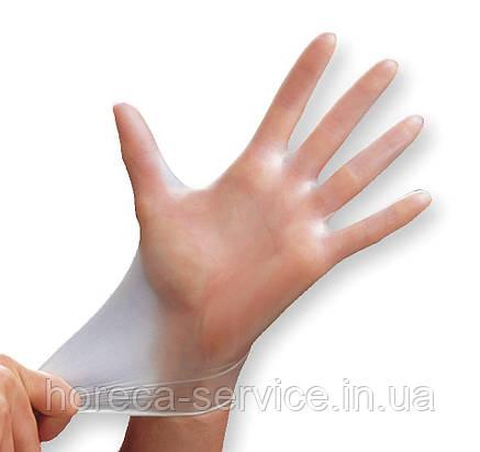 Перчатки Mercator Medical Vinilex PF Виниловые диагностические прозрачные 50 пар, размер L, фото 2