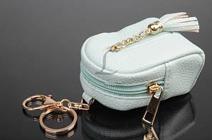 Брелок сумочка с кисточкой (нежно-ментоловый)