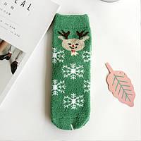 Носки махровые с новогодним принтом