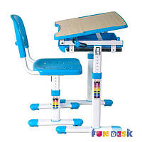 Парта и стул-трансформеры комплект FunDesk Piccolino Blue