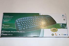 Клавиатура для компьютера (проводная) logitech + наклейки (русский язык) в подарок