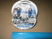 Лампа накаливания H4 12V 60/55W P43t-38 Cristal Vision + 2x W5W 4300K (Производство Philips) 12342CVSM