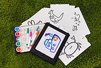 Доска для рисования с подсветкой , развивающая игра для детей от 2х лет