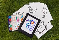 Доска для рисования с подсветкой , развивающая игра для детей от 2х лет, фото 1