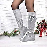 Сапоги женские Gessy серые деми 3986, зимняя обувь