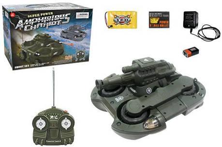 Радиоуправляемый танк Амфибия YED 24883, фото 2