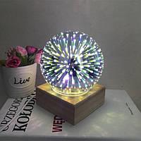 Светодиодная лампа-шар с 3D эффектом фейерверка Снежинки