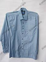 """Мужская рубашка с длинным рукавом (46-54) """"Ruba"""" купить оптом со склада на 7 км 2RS-5034"""