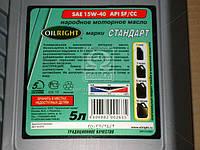 Масло моторное OIL RIGHT Стандарт 15W-40 SF/CC (Канистра 5л) (арт. 2372), ABHZX