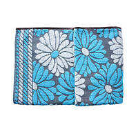 Банное полотенце Home4You ORIENT 140x70cm  light blue/ white flower