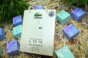 Lacoste Eau De L.12.12 Blanc - Travel Perfume 50ml в подарочной упаковке